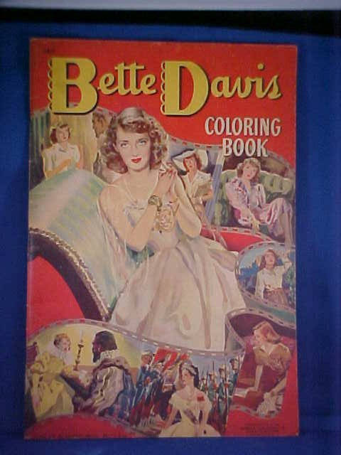 7: Vintage Coloring book Bette Davis #4817