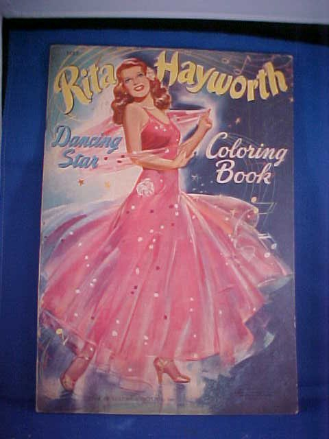 9: 1942 Rita Hayworth coloring book #3483