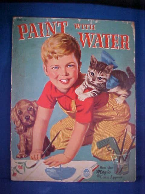 12: 1951 Paint with water coloring book.