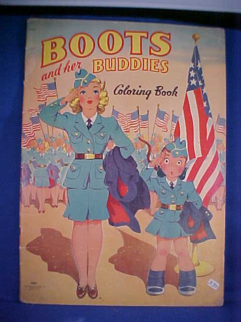 17: Boots and her Buddies Colorin book #2461.   1942