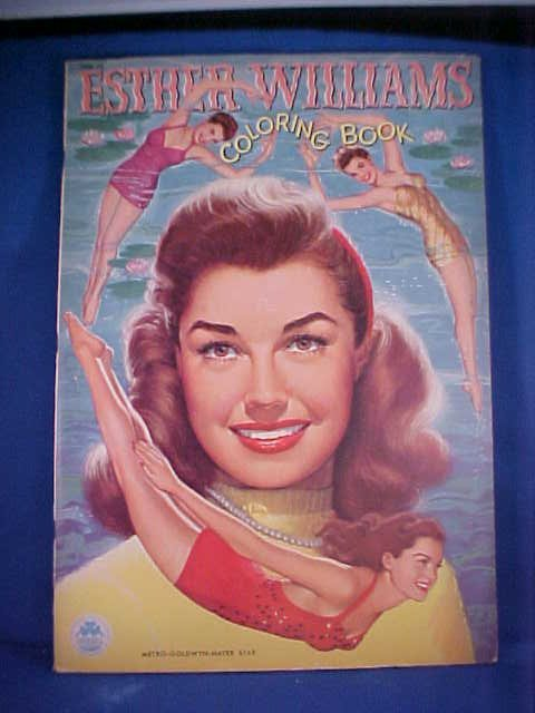 19: 1950 Esther Williams coloring book #1591-15.