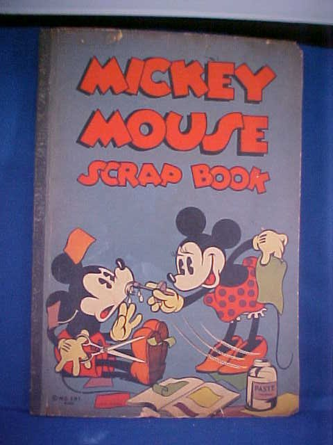 22: 1930's Mickey Mouse Scrap book #640