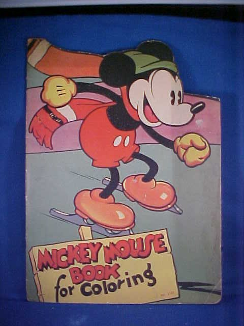 23: Early Mickey Mouse coloring book #2121.