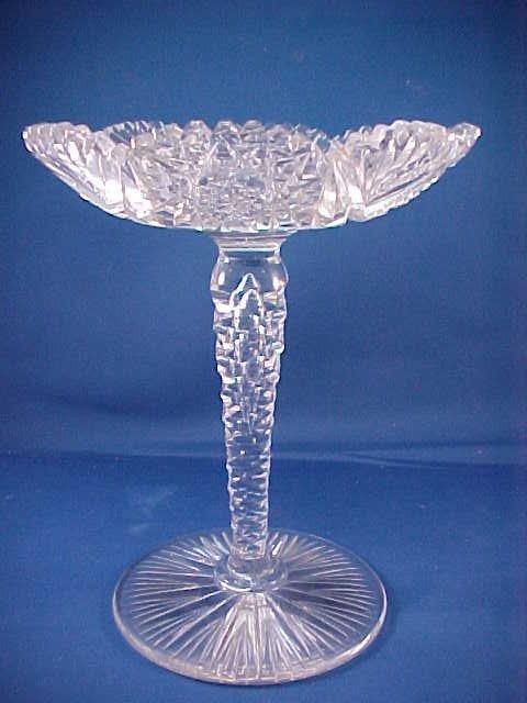 2006: Brilliant Period Cut Glass stem compote.