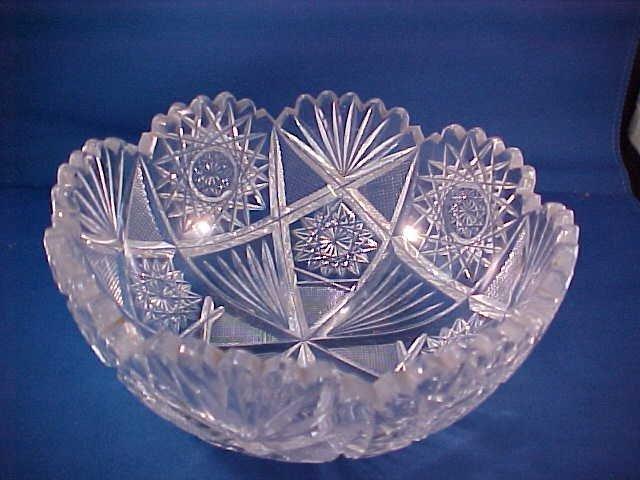 2008: Brilliant Period cut glass bowl signed Clark