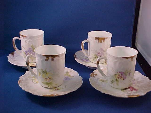 2011: Haviland limoges  set of 4 cups & saucers set