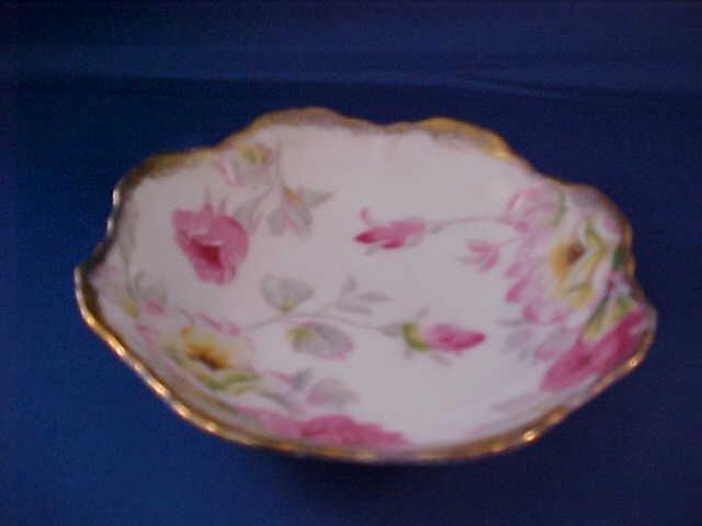 2022: Hand painted plate Cherry china.