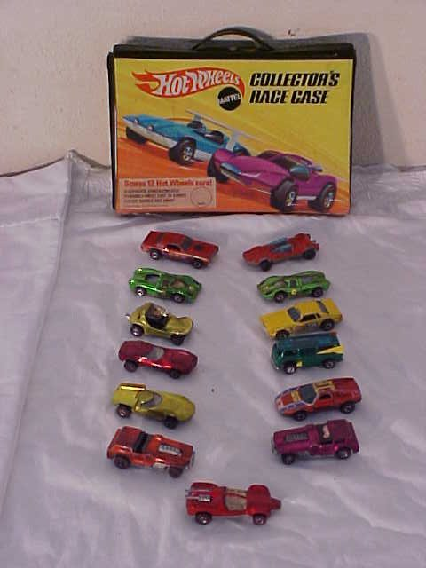 3076: Lot of 13 Red Line Hot Wheels cars.