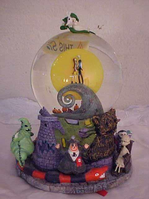 3192 a nightmare before christmas snow globe music box