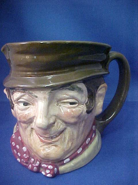 "4017: Signed Royal Doulton ""Sam Weller"" face mug."