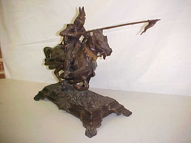 4057: Bronze statue of knight on horse
