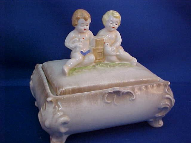 U. S. Zone Germany porcelain jewelry box