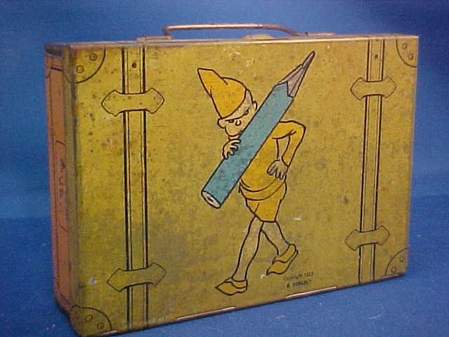 "Signed W. Donahey tin litho ""Teenie Weenie"" pencil box"