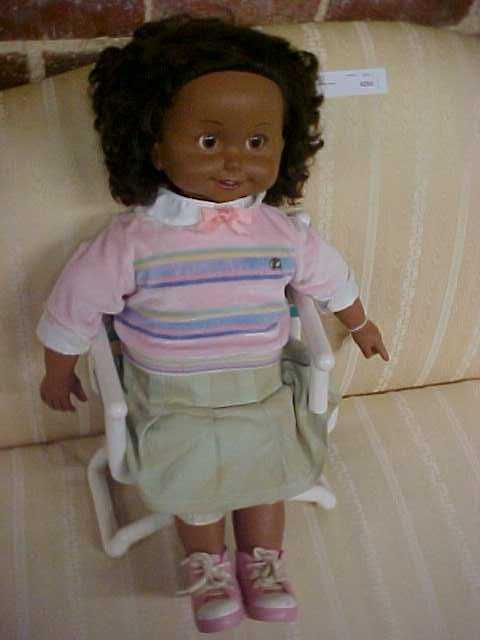 1986 Rare Black Cricket Doll W Chair