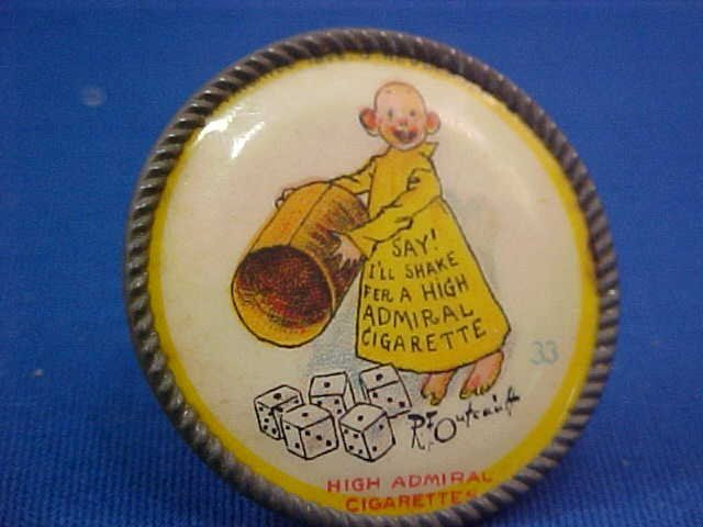 High Admiral cigarettes pin 1898