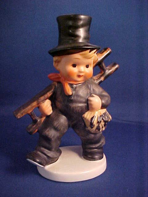 "Hummel figurine 5-1/2"" Boy w/ladder"