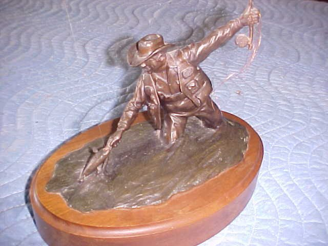 Bronze Fisherman by M. Urdhal titled The Reunion. 1979