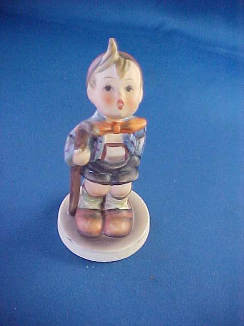 """Hummel figurine 4""""tall Boy w/stick."""