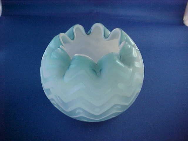 "Victorian satin glass rose bowl 3""Tall"