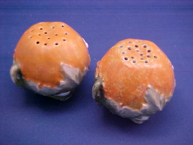 "Royal Bayreuth Orange 2-1/4""t Salt and Pepper"