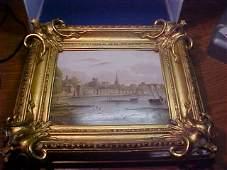 Porcelain picture in gold frame