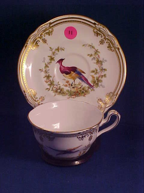 """Signed Spode cup & saucer """"Chelsea Bird"""""""