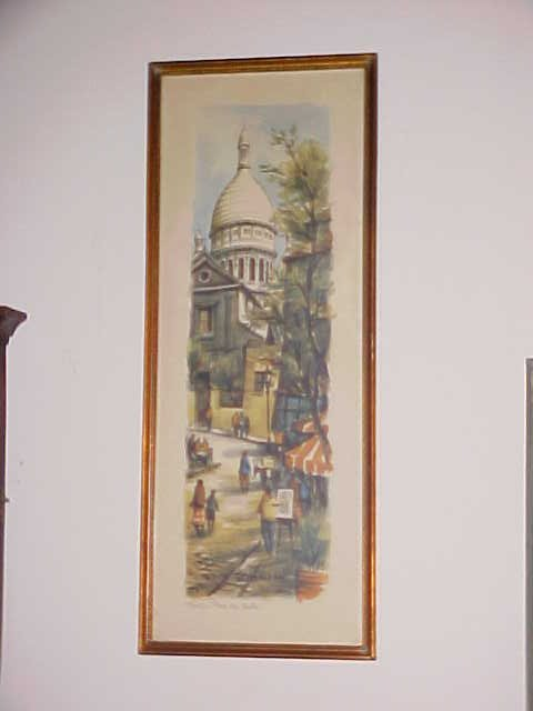 Pair of signed French watercolors - Paris