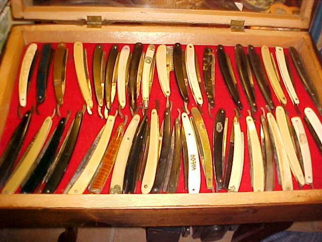 Lot of 41 Early straight razors