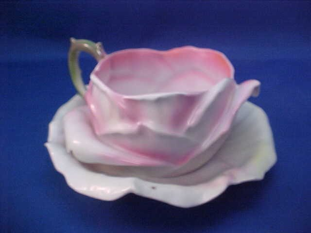 "Royal Bayreuth Pink Rose 5-1/2"" w cup and saucer"