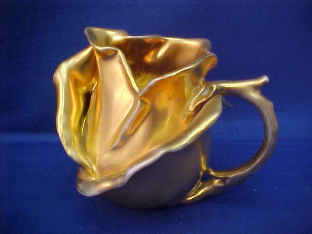 "Roayl Bayreuth Gold Rose 3"" tall Pitcher"