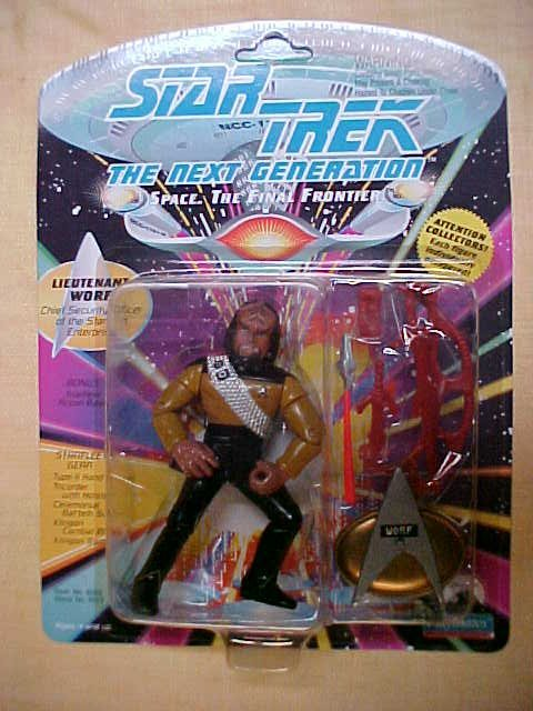 Star Trek Lieutanant Worf Chief security officer figure
