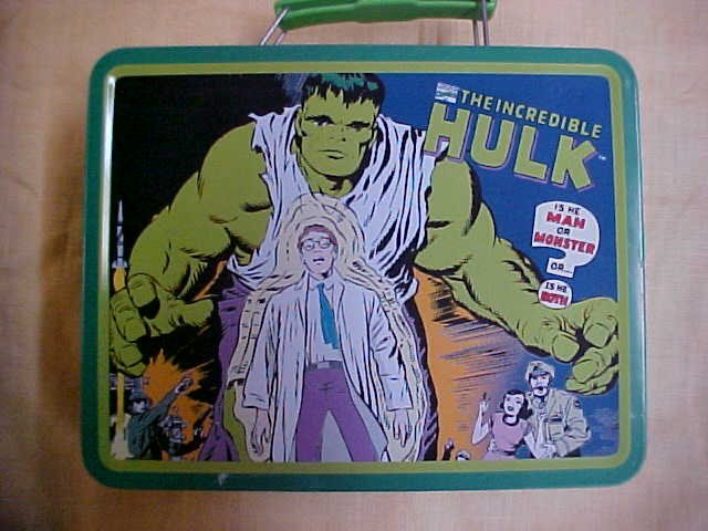 1998 The Incredible Hulk lunch box  by Marvel.