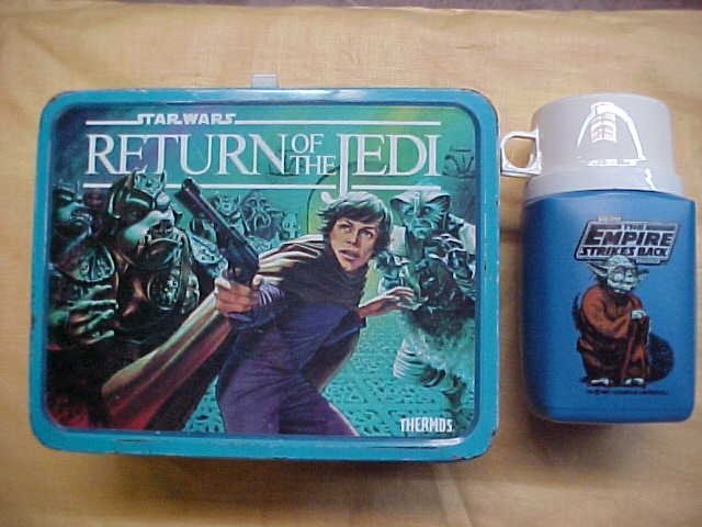 Star Wars lunch box 1983 w/thermos 1981.