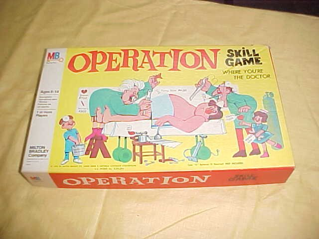 1965 Milton Bradley Operation game.w/box.