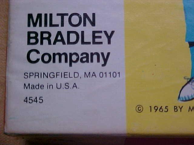 1965 Milton Bradley Operation game.w/box. - 3
