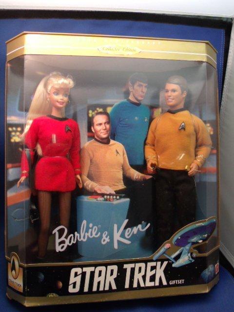"10-1/2"" tall 1996 Star Trek Barbie & Ken doll gift set"