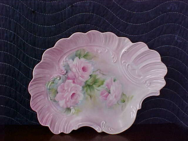 signed Pearl Carson 1983 hand painted tray