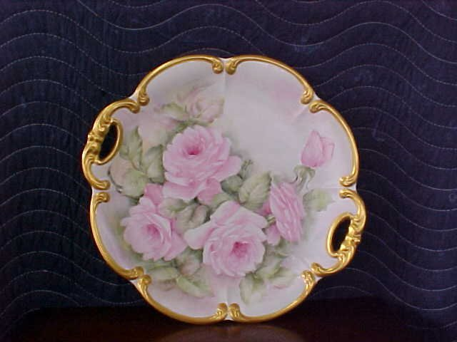 signed Pearl Carson 1981 hand painted platter