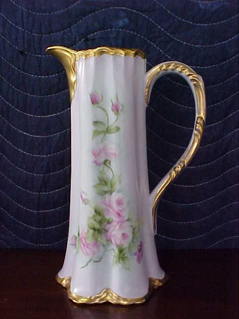 Signed Pearl Carson 1983 hand painted pitcher