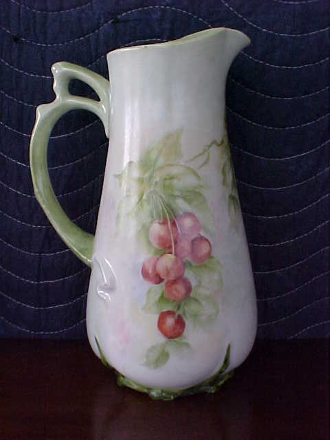Signed Pearl Carson 1980 hand painted pitcher