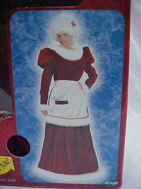 Ultra Velvet Mrs. Santa dress and apron - 2