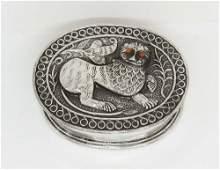 A Fine Silver Snuff Box European 19th century