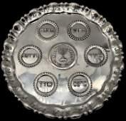 A Silver Passover Seder Plate, Israel, Circa 1950