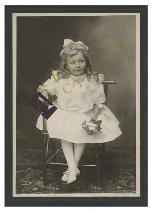Unknown photo of Rebbetzin Chaya Mushka as a young