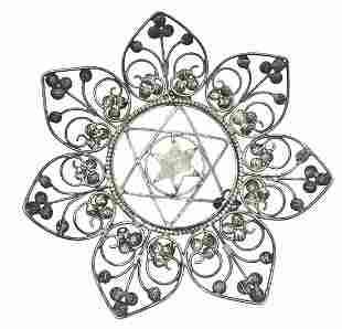 Antique Silver Star of David designed Dish