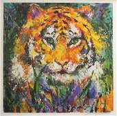 Lithograph Colorful Bengal Tiger After LeRoy Neiman