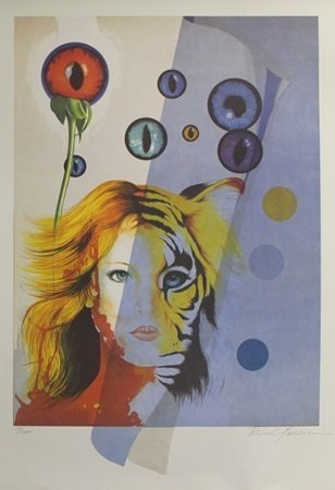 """Lithograph """"Blooming Eyes"""" After  Maddaloni (55L)"""