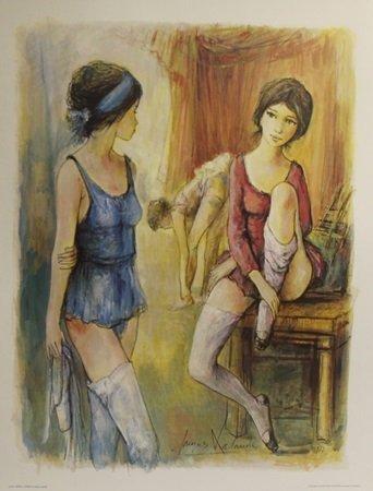 """Lithograph """"Apres de la Danse"""" After  Jacque Lalande"""