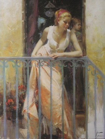 Giclee on Canvas after Pino Daeni (38H)