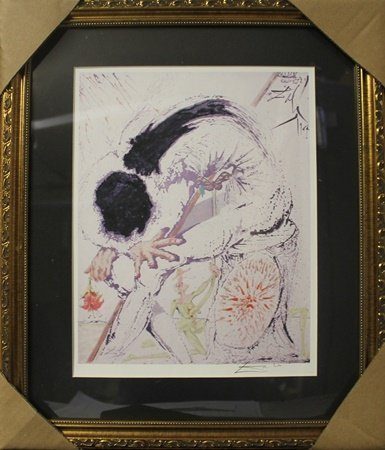 "Lithograph ""Metamorphosis"" After  Salvador Dali (5F)"